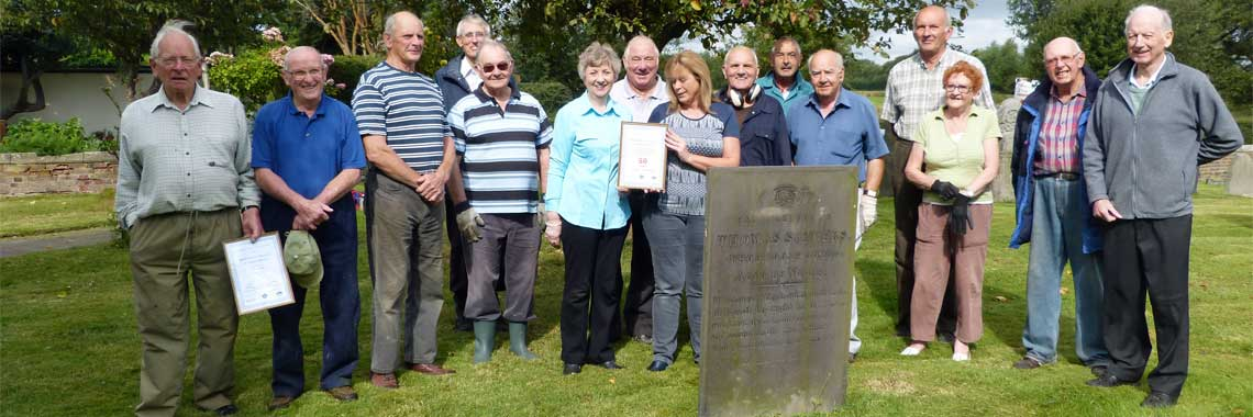 The Churchyard Group celebrate Kings Bromley winning the Best Kept Village Award