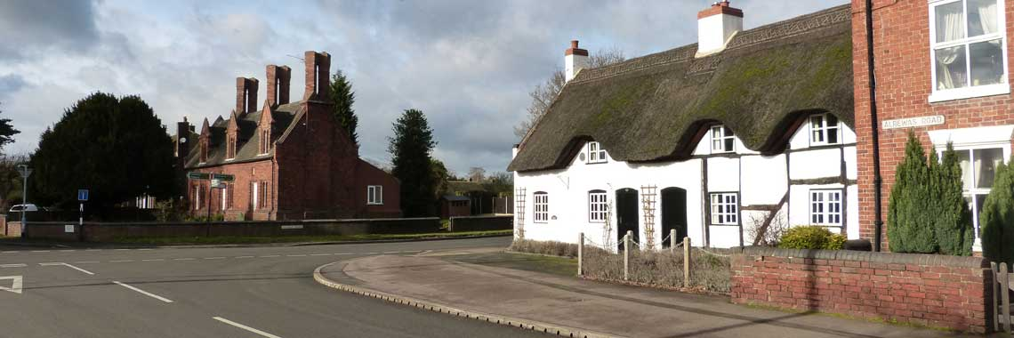 Guidepost Cottage and the Almshouses