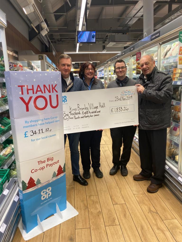 Co Op cheque presentation